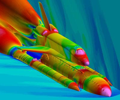Aerodynamic & Debris Field Simulation of Space Shuttle Launch Vehicle using Computational Fluid Dynamics
